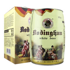 德国精酿工艺啤酒 5L桶装白啤 礼盒装 麦香原浆精酿 5000ml畅饮桶装啤酒