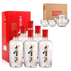 54°红色经典董酒500ml*6+茶具五件套(酒仙会员专享)