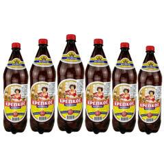 俄罗斯原装进口波罗的海日古利烈性浓麦芽度啤酒1350ml*6桶