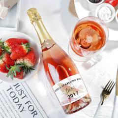 慕拉起泡酒白葡萄酒甜型汽泡酒甜红酒草莓气泡酒非香槟适合女生喝的酒750ml