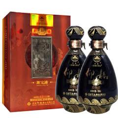 河南特产白酒 仰韶酒 仰韶蒸宝液封藏(30)浓香型52度 500ml 2瓶礼盒装
