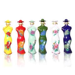 河南白酒 杜康村六彩牡丹酒 旗袍酒盒礼品酒52度浓香型白酒500mlX6瓶整箱装