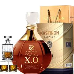 40°法国(原瓶)进口迪卡伦XO白兰地700ml(洋酒礼盒+酒具套装)