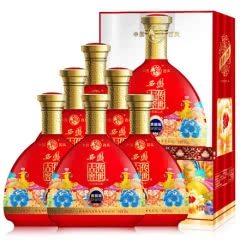 西凤 52度西凤 婚宴结婚红瓶喜酒 送礼白酒 传世古窖 (贵窖级 )整箱6瓶