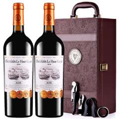 张裕乐高贵族城堡庄主珍藏干红葡萄酒法国原瓶进口红酒礼盒装750ml*2