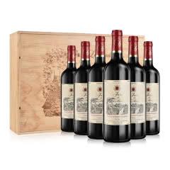 整箱法国莫奈庄园干红葡萄酒750ml*6(松木礼盒装)