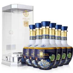 52度 五粮液集团出品 华彩人生竹荪酒 精品蓝 整箱装白酒(500ml*6瓶)