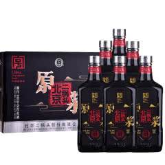 【京东配送】46°永丰牌北京二锅头原浆酒黑瓶 清香型白酒 500ml(6瓶装)