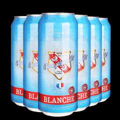 新品推荐法国进口啤酒浪漫果香白啤酒500ML(6听装)