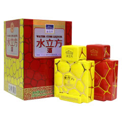 53°贵州茅台酒水立方酒红黄礼盒(2012年)500ml*2瓶