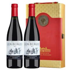 法国进口红酒 罗纳河谷小产区 AOP级干红葡萄酒 750ml*2瓶(双支礼盒套装)