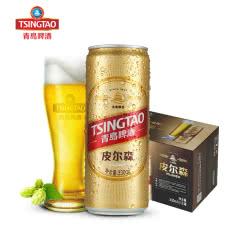 青岛啤酒(TsingTao)皮尔森 10.5度 330ml*12听整箱装