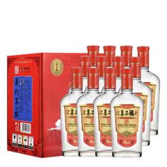 42°永丰牌北京二锅头白酒经典小扁瓶纯粮酒永丰二锅头香型白酒 红标500ml(12瓶装)