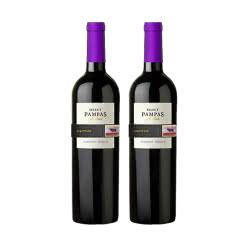 阿根廷原瓶进口红酒潘帕斯精选半干红葡萄酒750ml*2