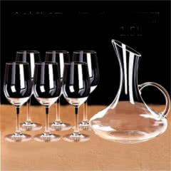 酒具醒酒器套装(6只高脚杯430ML+带把醒酒器)