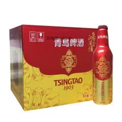 青岛啤酒鸿运当头福铝罐355ml*12瓶整箱装