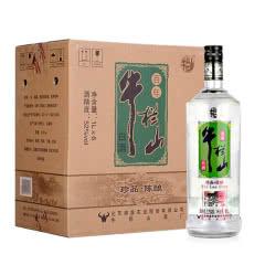 52°牛栏山二锅头 珍品陈酿(银牛)浓香型白酒  1000ml*6 整箱装