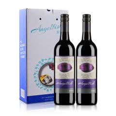 澳大利亚天使鱼珊瑚系列西拉半干红葡萄酒750ml(双支礼盒装)
