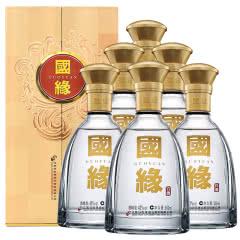 42度今世缘国缘 对开/双开 柔雅型 商务宴请白酒500ml(6瓶装)