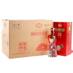 52°四川绵竹剑南春酒厂出品浓香型白酒红色荷花酒整箱装500ml*6瓶