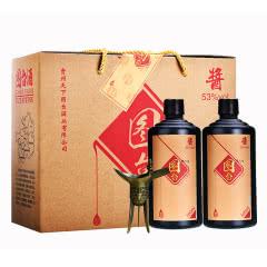 53°贵州茅台镇图台 酱香型白酒 粮食酒 礼盒酒 送礼酒 500ml*2瓶装