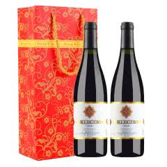 法国进口红酒杜赛托 金标橡木桶干红葡萄酒750ml*2瓶(送精美礼品袋)