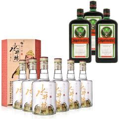 52°水井坊·三国系列(义勇仁)500ml*6+35°野格利口酒(配制酒)700ml*3