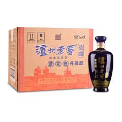 52°泸州老窖头曲蓝花瓷500ml(6瓶装)