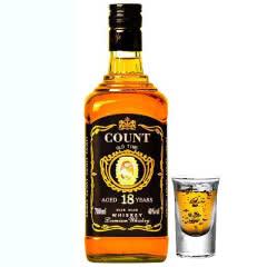 【买赠酒杯】40°伯爵洋酒 威士忌烈酒700ml单瓶