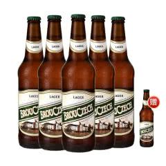 布鲁杰克瓶装拉格啤酒500ml*5瓶整箱捷克原装进口(下单就多赠一瓶)