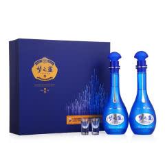 52度洋河蓝色经典梦之蓝M6礼盒装浓香型白酒 500ml*2