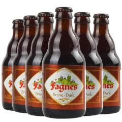 原装进口比利时精酿啤酒法尼斯黑啤酒330ml(6瓶装)