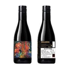 小提琴干红葡萄酒澳洲西拉梅洛红酒187ml两支装