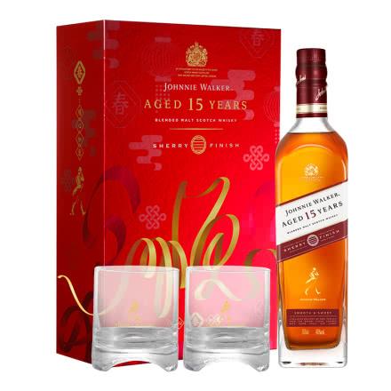 40°尊尼获加15年雪莉版新春礼盒装调配型威士忌700ml