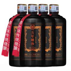 53°贵州茅台镇 红四渡四渡豪情 酱香型白酒 五年坤沙 整箱500ml*4