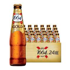 法国进口克伦堡凯旋1664啤酒 金标啤酒250ml(24瓶装)