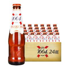 法国进口克伦堡凯旋1664啤酒百香果味啤酒 250ml(24瓶装)