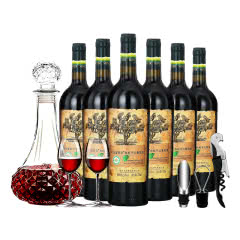 名仕艾菲尔AFEIR 老树鼎级系列 有机干红葡萄酒(重型瓶)750ml *6 整箱装
