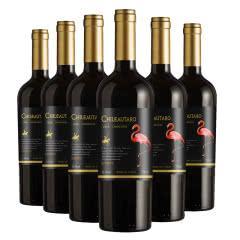 智利进口红酒干红葡萄酒火烈鸟珍藏佳美娜整箱750mlx6