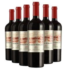 法国进口红酒干红葡萄酒侯爵2011年份 珍藏美乐 轻宽重瓶型 整箱 750mlx6