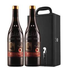 澳洲进口16.8度干红葡萄酒高度精选红酒礼盒装750ml*2
