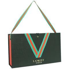 【仅礼盒,无酒】法国拉蒙 双支装波尔多红酒礼盒\葡萄酒包装木盒\红酒礼盒