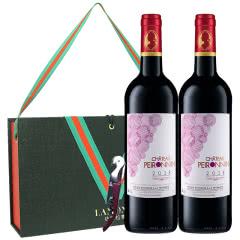 拉蒙 宝蓝亭酒庄 波尔多AOC级 法国原瓶进口 干红葡萄酒750ml*2双支装