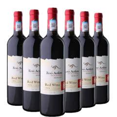 澳大利亚原瓶进口红酒澳芬袋鼠王王梅洛红葡萄酒整箱750ml*6