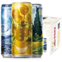 青岛啤酒白啤11度330*12纤体罐啤(梵高)