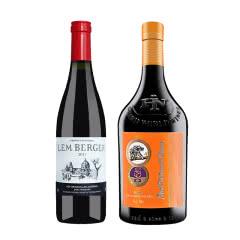 澳大利亚原瓶进口红酒红奥庄园雨林干红750ml+法国AOP级莱姆贝格干红葡萄酒750ml
