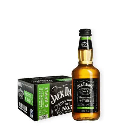 5°杰克丹尼威士忌苹果味预调酒330ml*24瓶