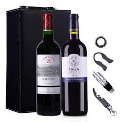 法国传奇源自拉菲罗斯柴尔德波尔多红葡萄酒750ml(DBR行货)(双支礼盒套装)