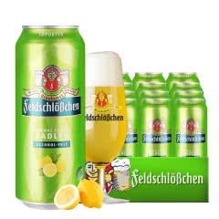 德国原装进口费尔德无醇柠檬果啤酒 果味啤酒 低醇啤酒500ml*18罐