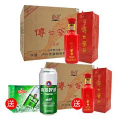 38°泸州老窖 传世窖池淡雅3 浓香型白酒500ml(2014年)(6瓶装)
